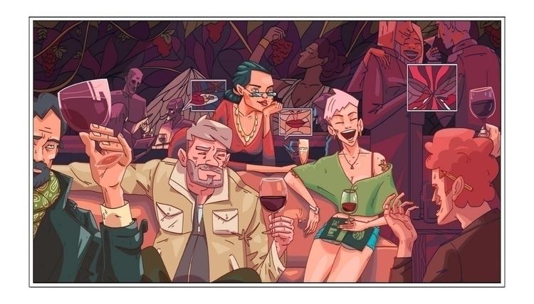 Bar - illustration, drawing, digitalart - foxhideblog | ello