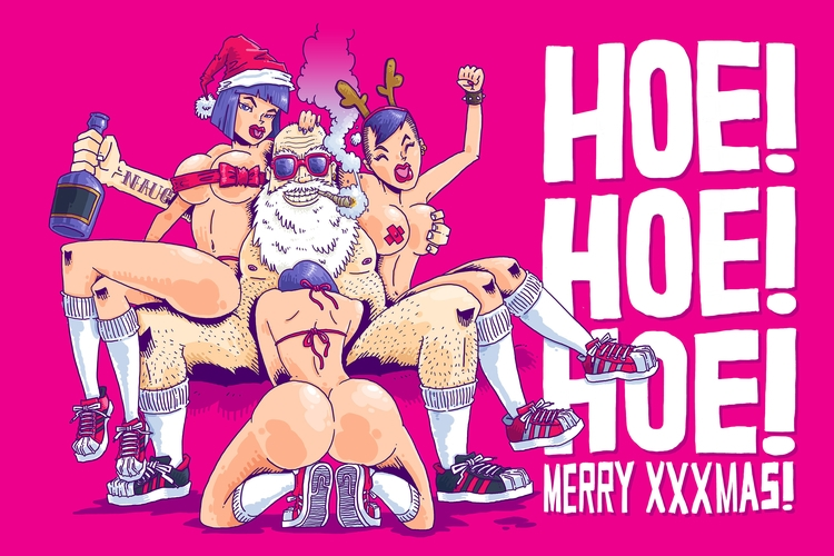 Merry XXXmas - illustration, merrychristmas - rtcustoms | ello