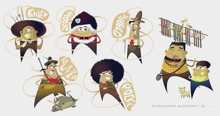 character study - illustration, characterdesign - pavanrajurkar | ello