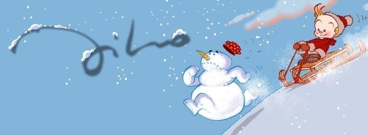 Joy snow - illustration - tiho-3213 | ello