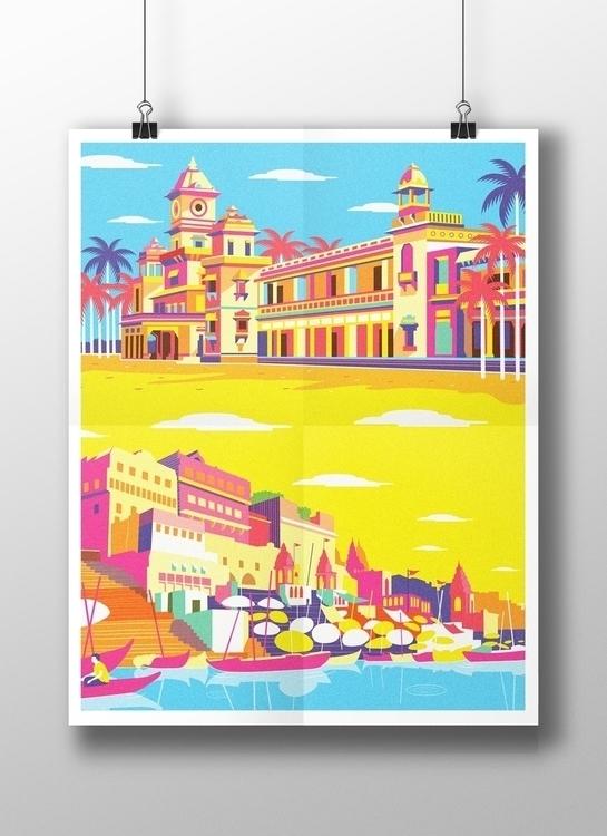 Varanasi - illustration, painting - pavanrajurkar   ello
