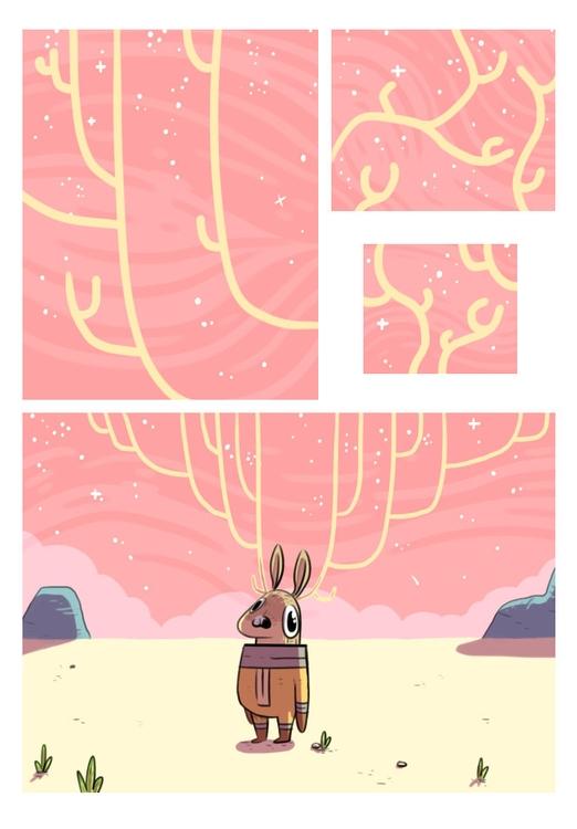 space, deer, comic, antlers - indiana_jonas | ello