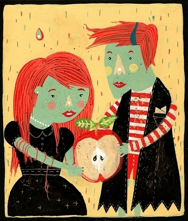 Apple love - illustration - marinamilanovic-2473 | ello