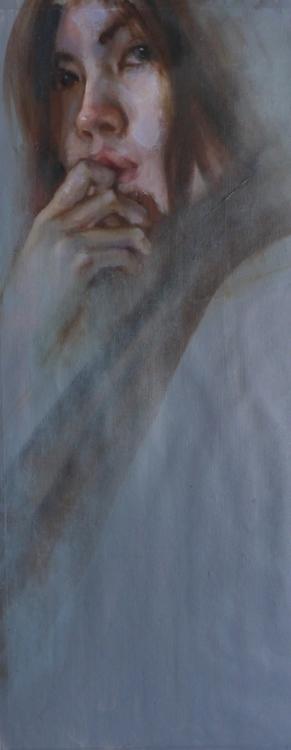 Ponder / Oil canvas - painting, portrait - pitchanan | ello