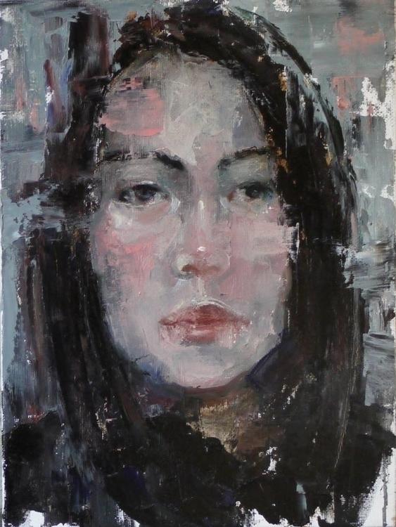 Grey Fragment / Oil canvas pane - pitchanan   ello