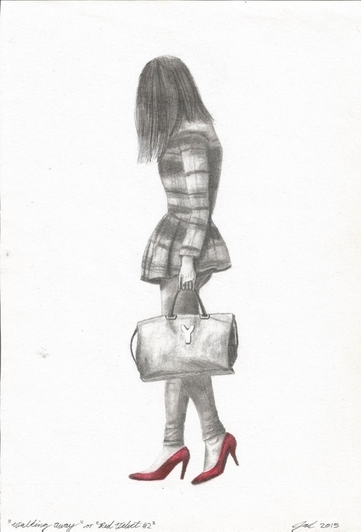 Walking Red Velvet - 2, illustration - jarrodkriel | ello