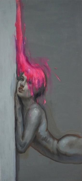 Pink pleasure / Oil canvas - painting - pitchanan | ello