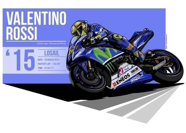 Valentino Rossi - 2015 Losail - illustration - evandeciren | ello