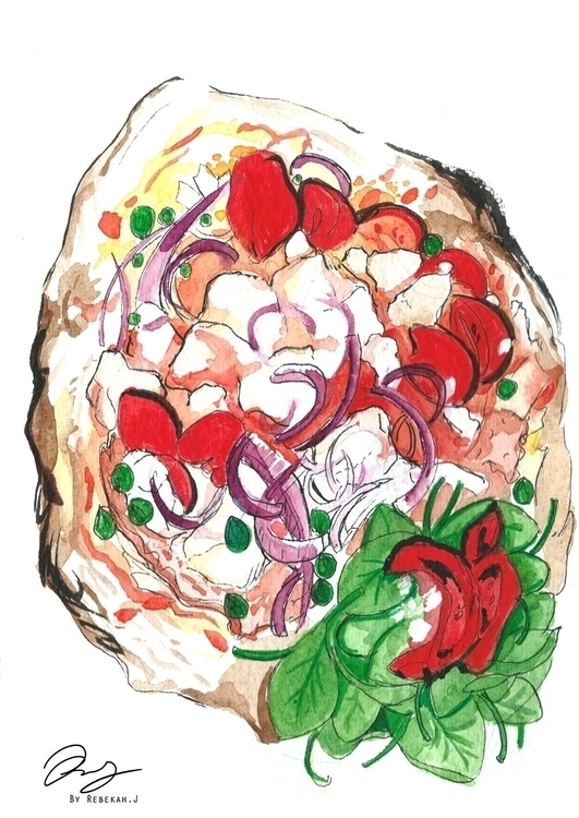 Pizza Illustration: Story Deli - reebek   ello