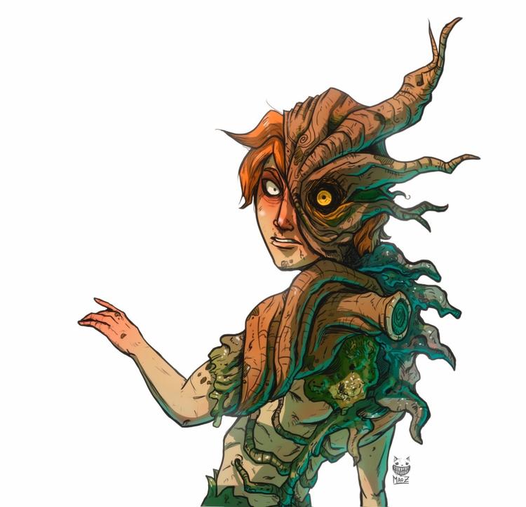 Mutation - illustration, characterdesign - maodraws | ello