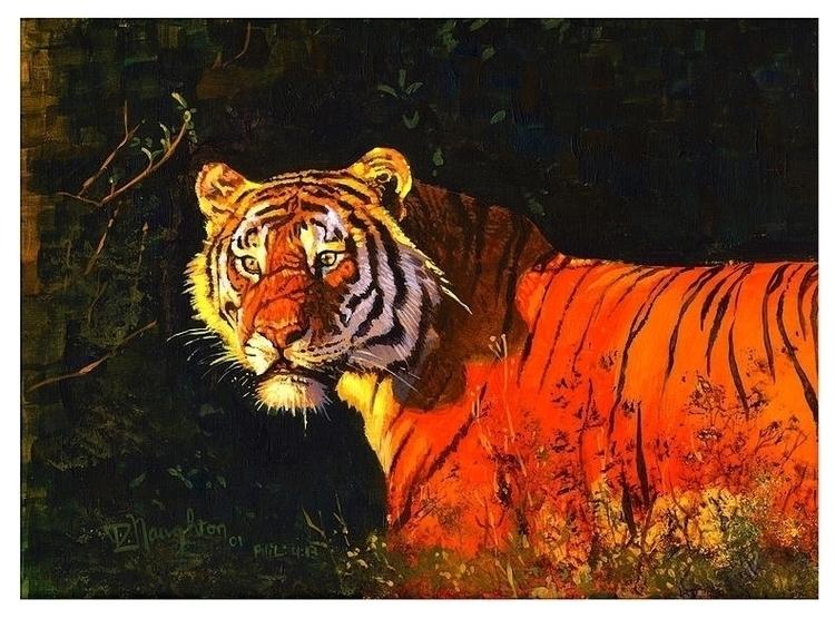 Sunset Tiger - artwiz | ello