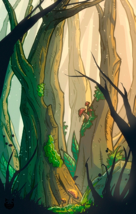 Magical forest - illustration, drawing - maodraws | ello