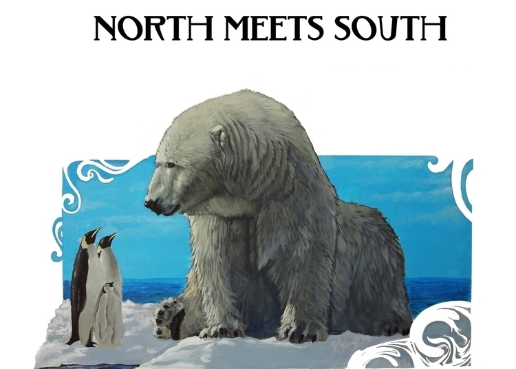 North Meets South - artwiz | ello