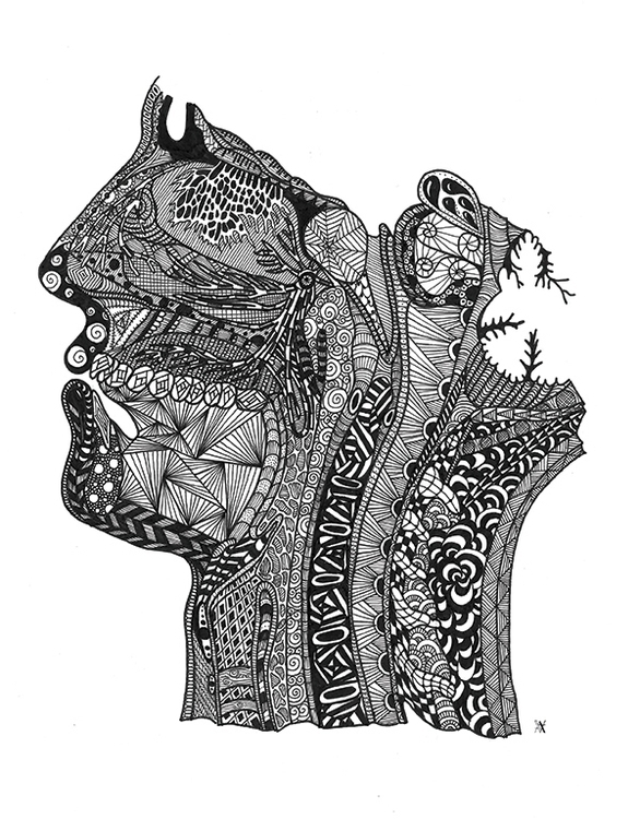 Head - illustration, anatomy, zendoodle - akumimpi | ello