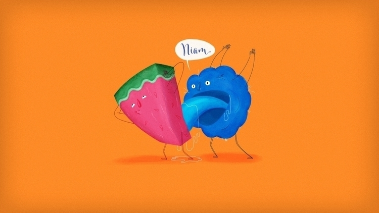 Niam - fruit, sex, watermelon, blue - gonzalo-3289 | ello