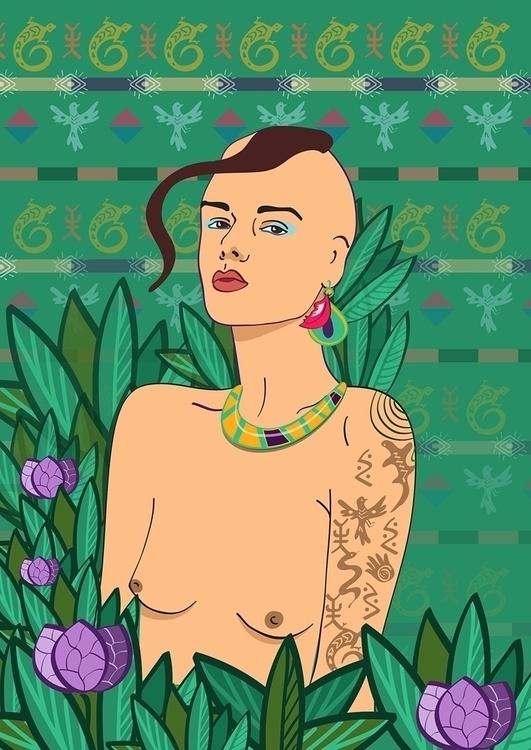 girl, illustration, art, nude - irina_rakyta   ello