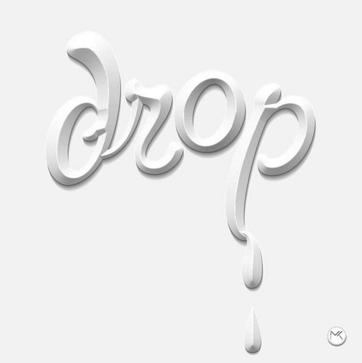 Drop - drop, 3D, lettering, typography - marketa_konta | ello