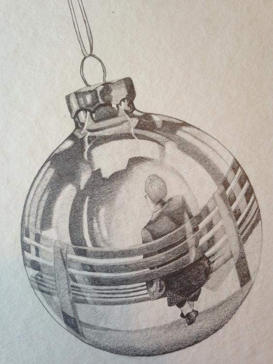 Lonely christmas pencil drawing - jannickesvardal | ello
