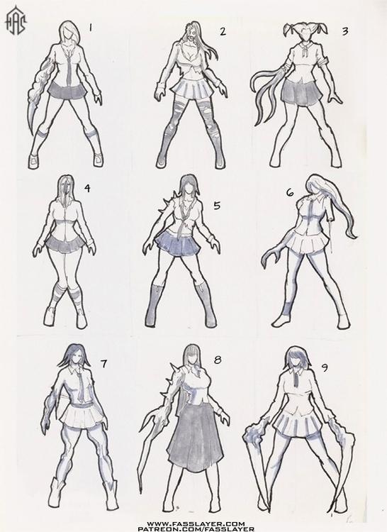 Zombie concepts - illustration, characterdesign - fasslayer   ello