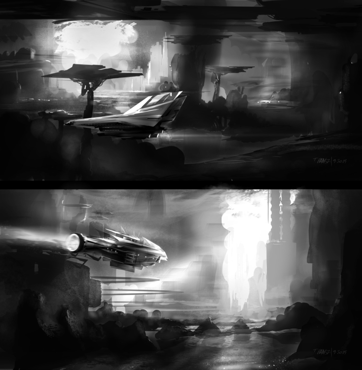 grey scale speed paintings. Tim - indicator | ello