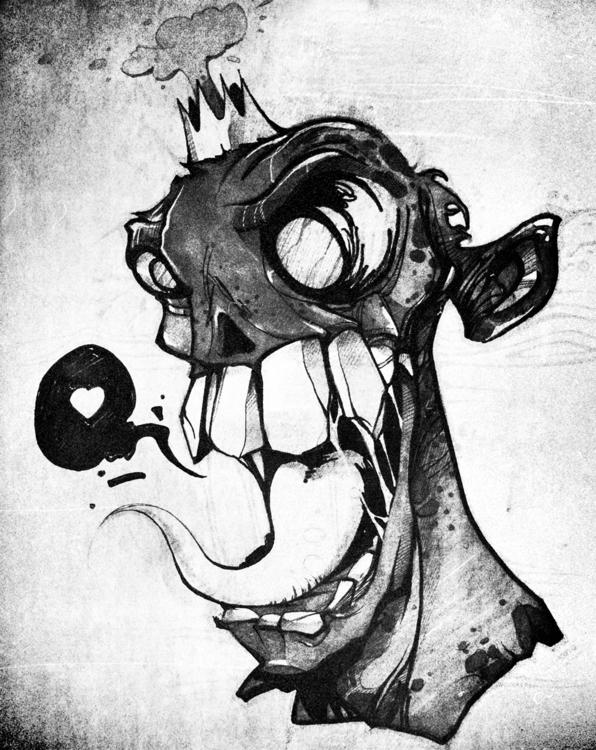 skull, sketch, illustration, sketchbook - lidiagh | ello