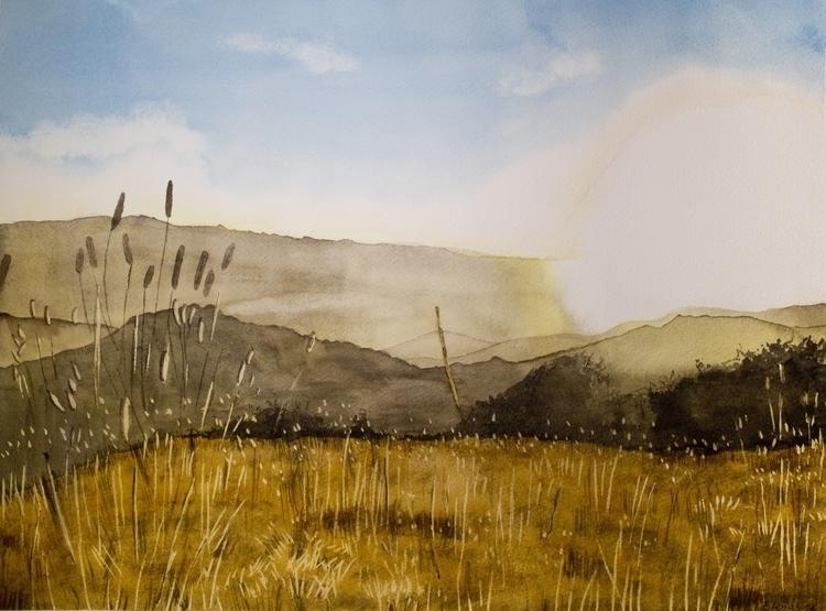 Sunrise - sunrise, landscape, painting - elenamantovan | ello