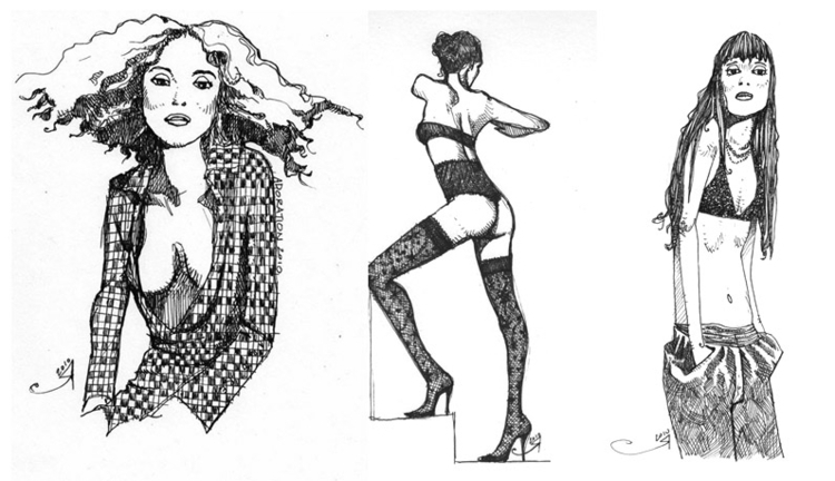 Ink fashion illustration - undo - deadbyxmas | ello