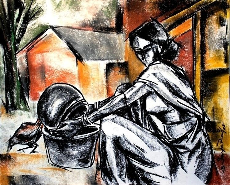 Ruralfolk - painting, drawing, jayaraj - sjayaraj999 | ello