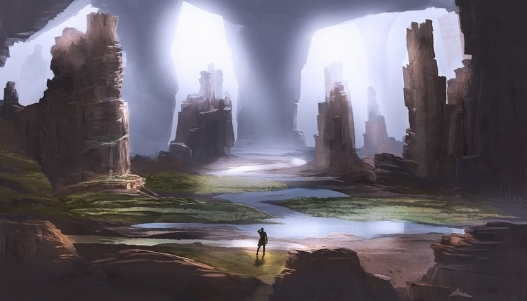 Cave System - illustration, painting - box010 | ello