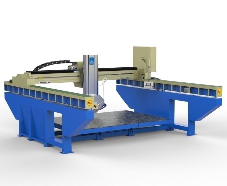 Cutter Machine - 3d, render, realistic - 3dbrianrincon | ello