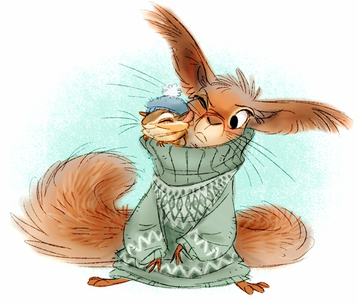 squirrel, animals, characterdesign - awamboldt | ello