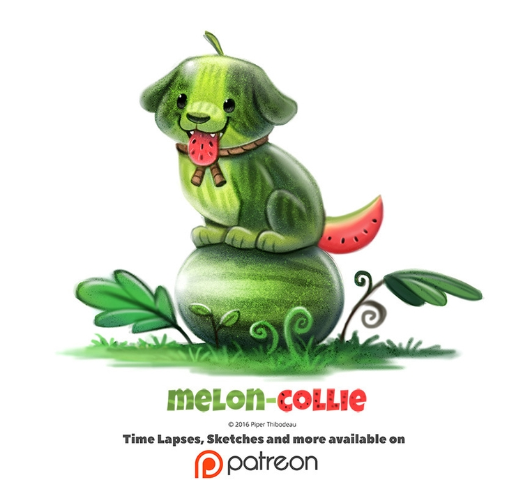 Day 1375. Melon-Collie - piperthibodeau | ello