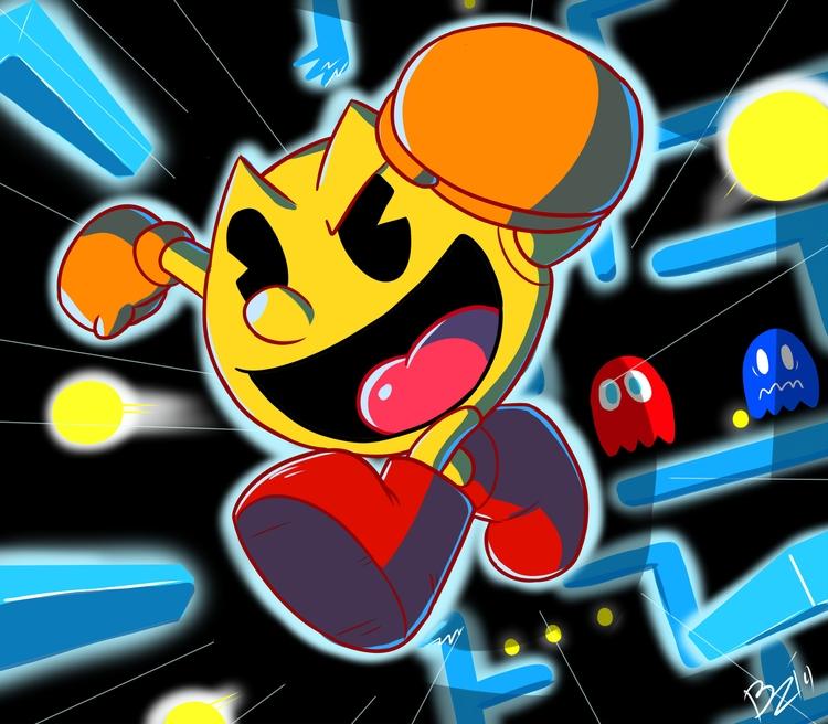 Pacman ready adventure - digitalart - zalarstudios | ello