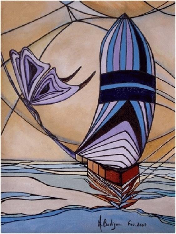 Sailing (Navegando) Acrylic (18 - acardigon | ello