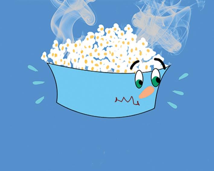 hot popcorn - illustration, animation - hendabdelghaffar   ello