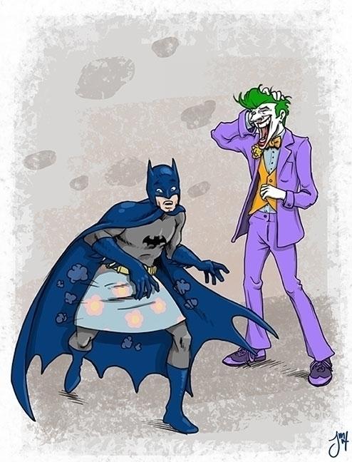 Joker hold utility belt Batman  - jasonmartin-1263   ello