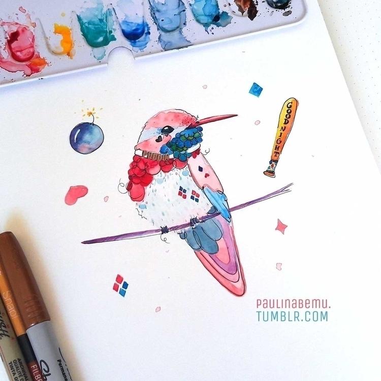 Harley Quinn hummingbird… Art C - paulinabemu | ello