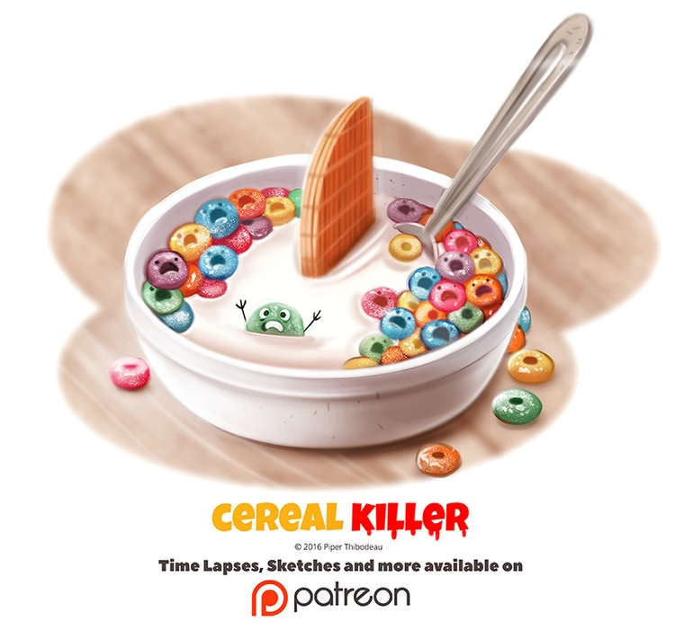 Day 1376. Cereal Killer - piperthibodeau | ello
