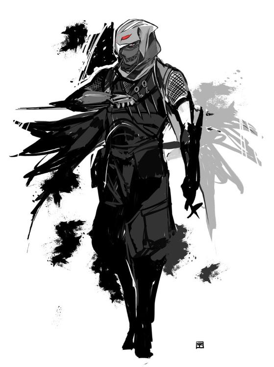 Fuma Kotaro - illustration, ninja - mizuno-3224 | ello