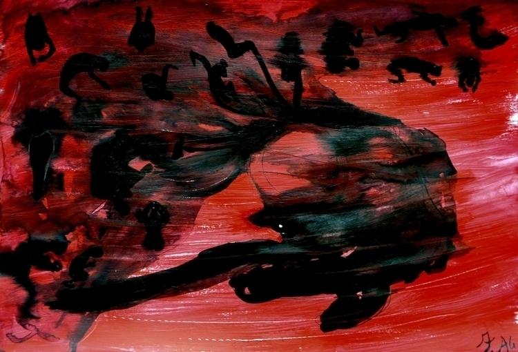 Title: nigtmare 1 Acrylic paper - fagfedericaaglietti | ello