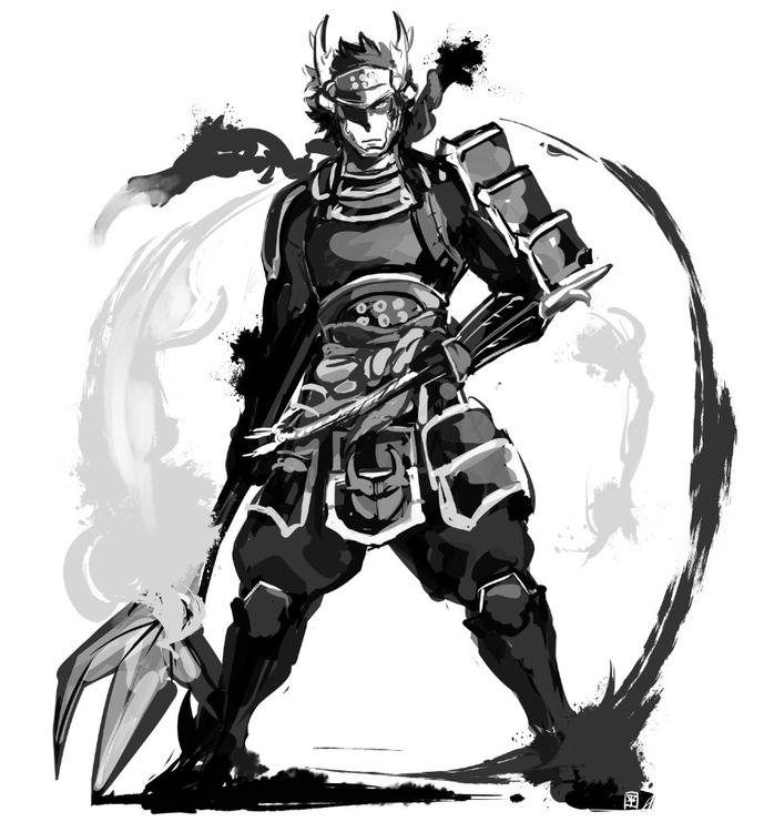 Sanada Yukimura - illustration, samurai - mizuno-3224 | ello