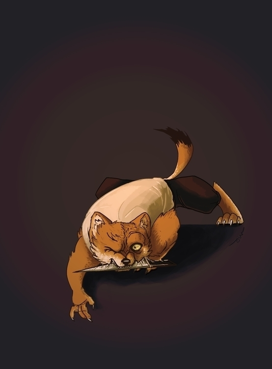 Pirate Stoat - illustration, redwall - mimi-4686 | ello