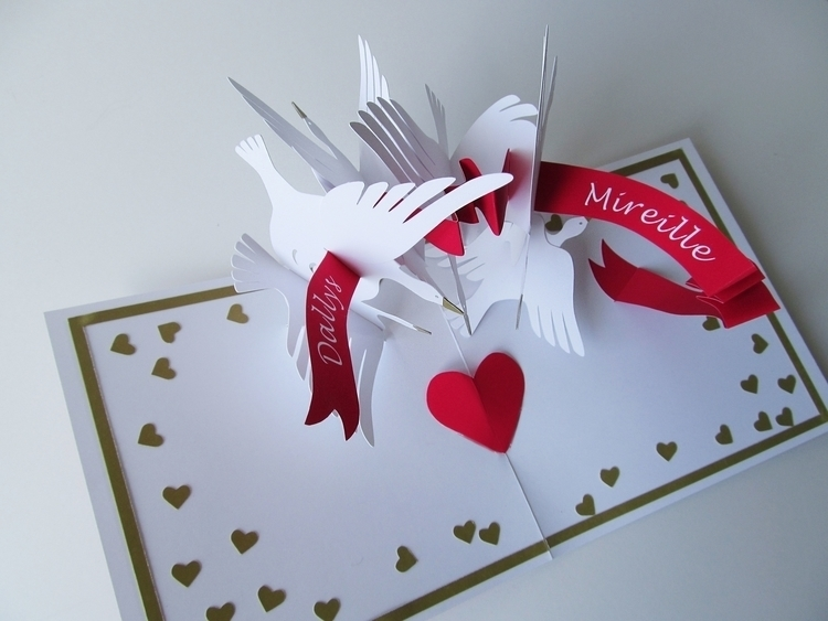 popup, paperart, papercut, greetingcard - kate_kazeykina | ello