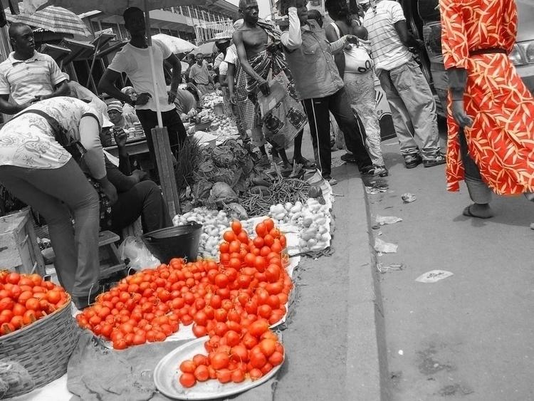 Kumasi Tomatoes - africa, market - cmvanclevephotography | ello