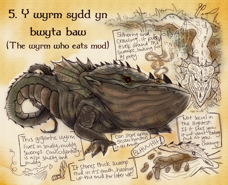 dragons, illustration - satoleek   ello