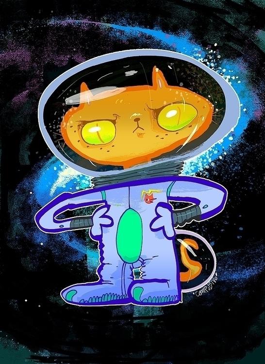 cat, space, astronaut - oliver-3196 | ello