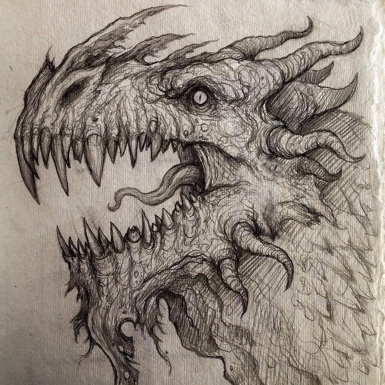 Pine Mountain Stoney Wyrm - dragon - cedarlore | ello