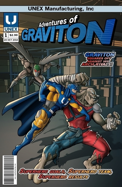 Graviton - illustration, comics - ronyazurdia | ello