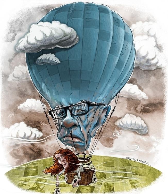 Newspaper Wars: Caricature Rupe - richardparker-9013 | ello