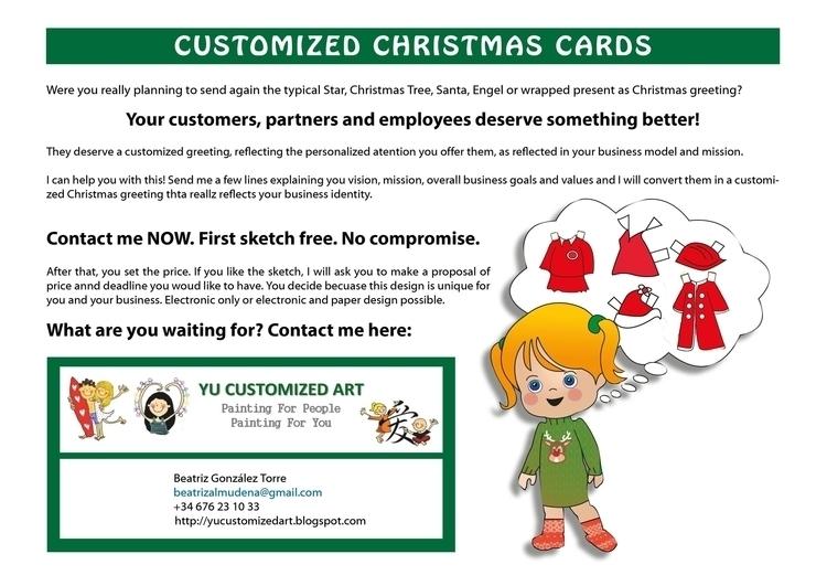 Customized Christmas Cards add - yucustomizedart | ello